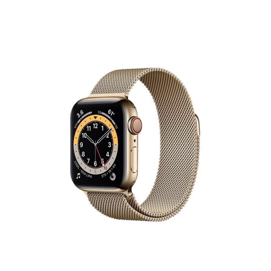 Apple Watch Series 6 GPS & 4G 40mm Gold Rustfri stål Case med Gold Milanese Rem