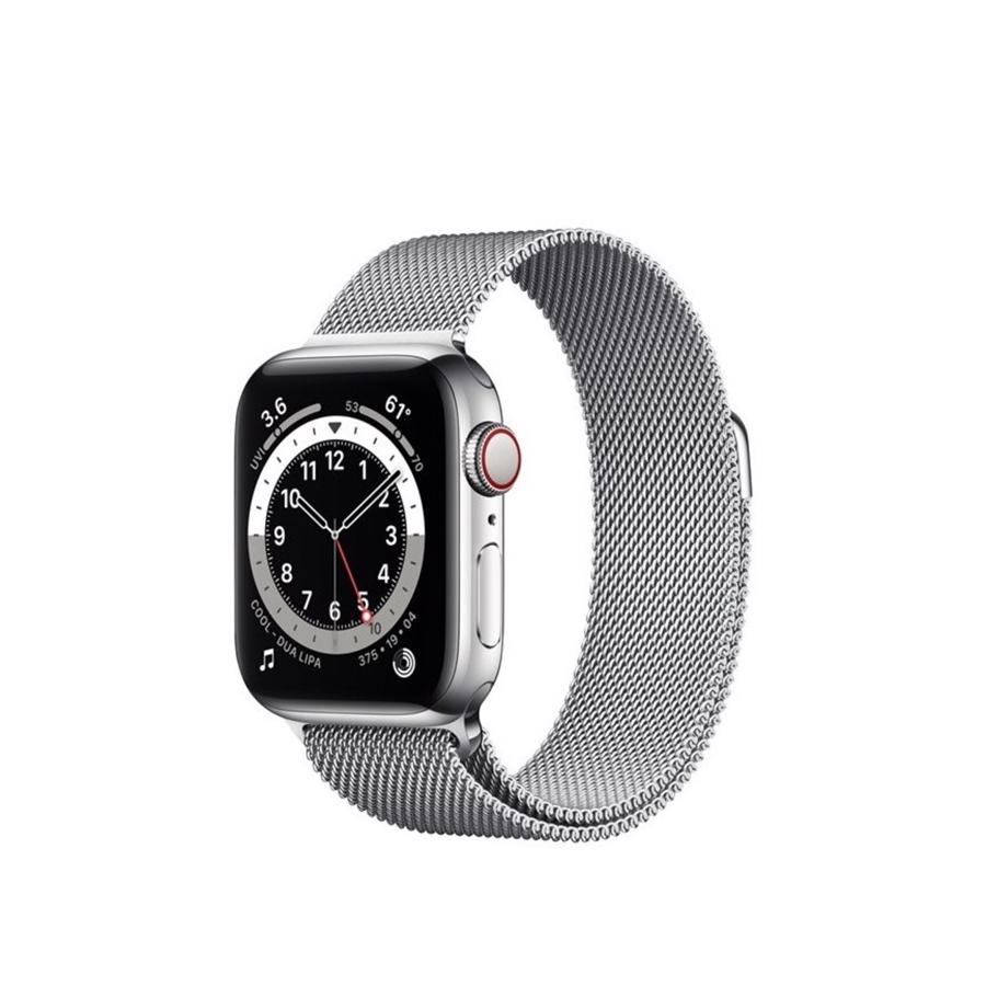 Apple Watch Series 6 GPS & 4G 40mm Silver Rustfri stål Case med Silver Milanese Rem
