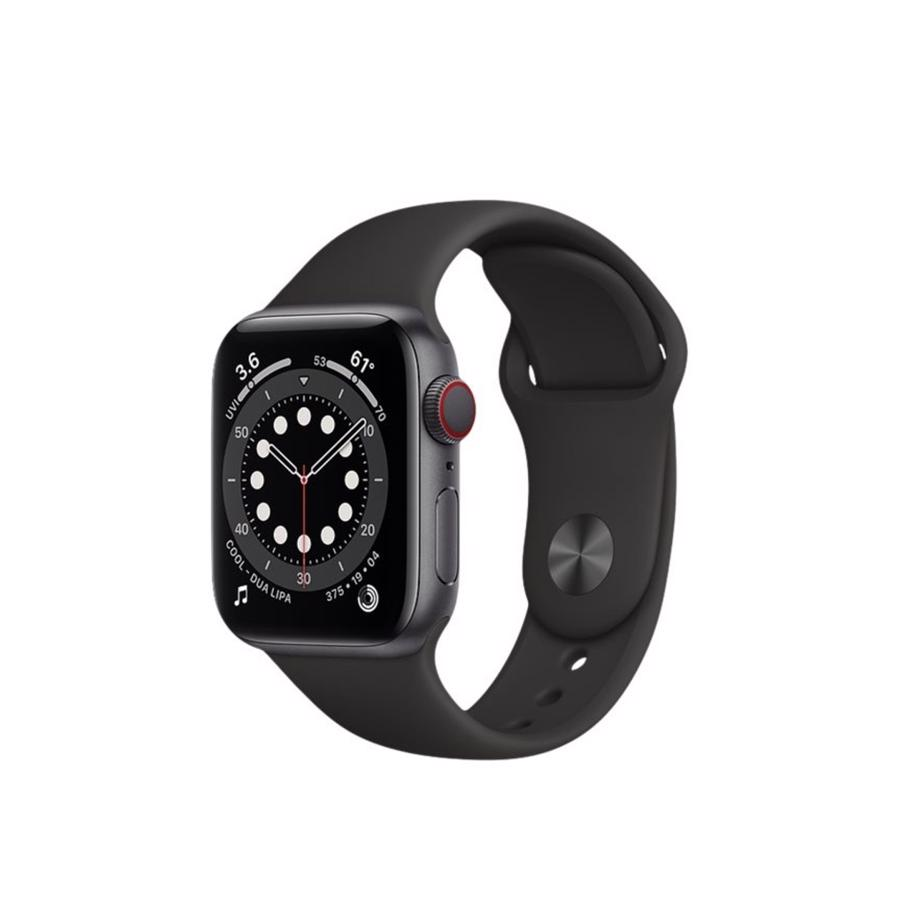Apple Watch Series 6 GPS & 4G 40mm Space Grey Aluminium Case med Black Sport Band