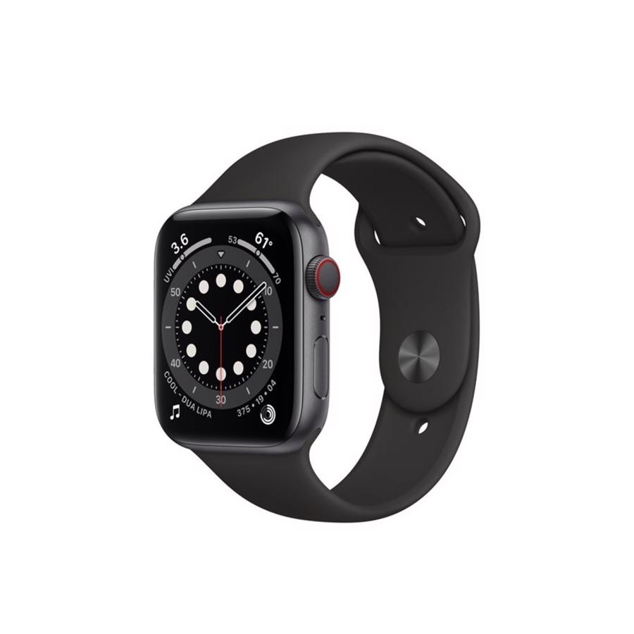 Apple Watch Series 6 GPS & 4G 44mm Space Grey Aluminium Case med Black Sport Band