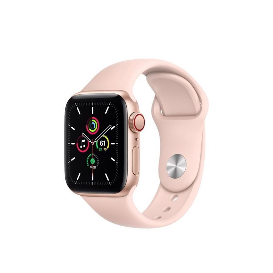 Apple Watch SE GPS & 4G 40mm Gold Aluminium Case med Pink Sand Sport Band