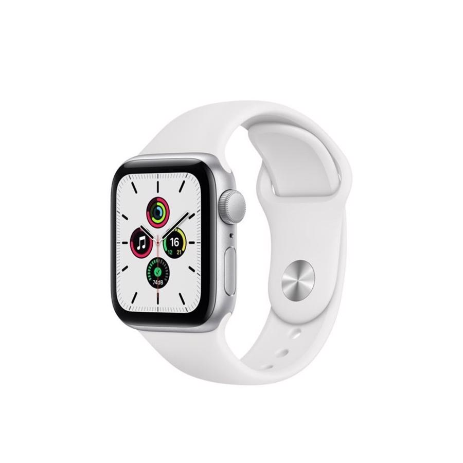 Apple Watch SE GPS & 4G 40mm Silver Aluminium Case med White Sport Band