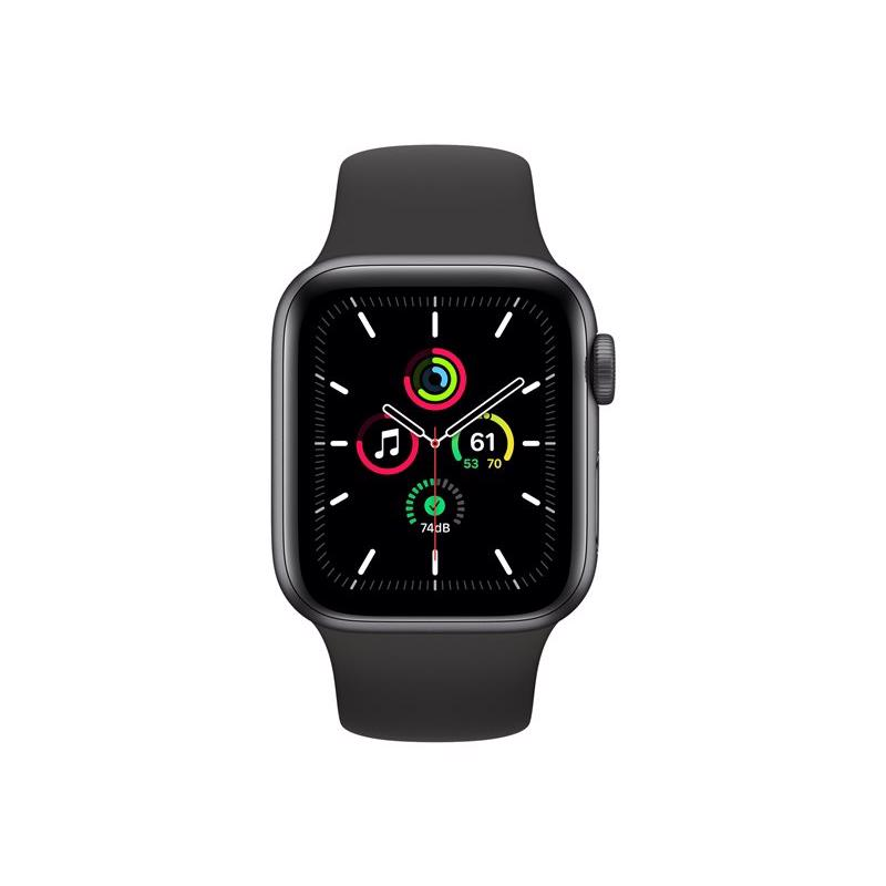 Apple Watch SE GPS 40mm Space Grey Aluminium Case med Black Sport Band