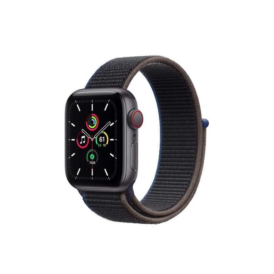 Apple Watch SE GPS & 4G 40mm Space Grey Aluminium Case med Charcoal Sport Loop