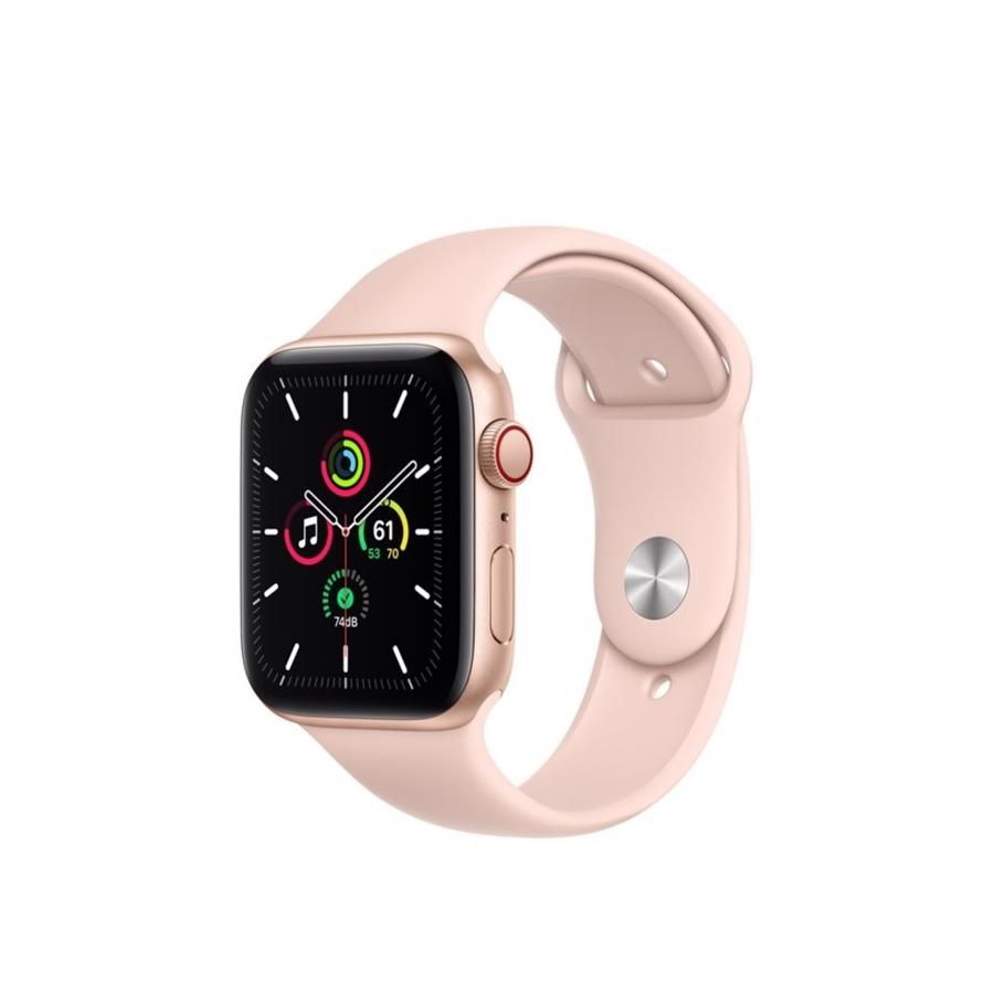 Apple Watch SE GPS & 4G 44mm Gold Aluminium Case med Pink Sand Sport Band