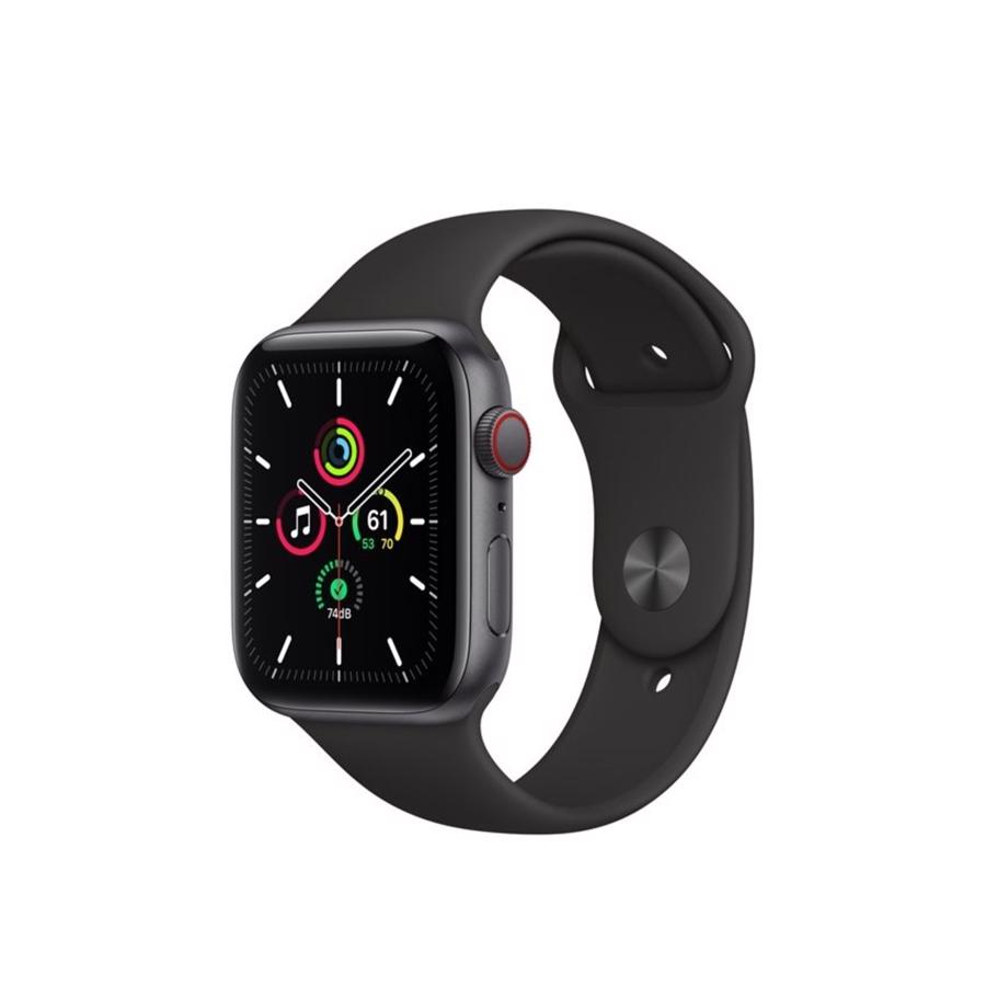 Apple Watch SE GPS & 4G 44mm Space Grey Aluminium Case med Black Sport Band