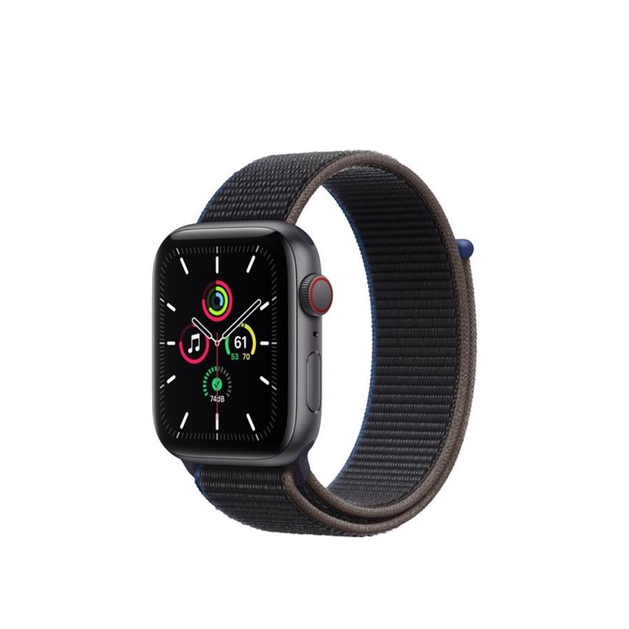 Apple Watch SE GPS & 4G 44mm Space Grey Aluminium Case med Charcoal Sport Loop