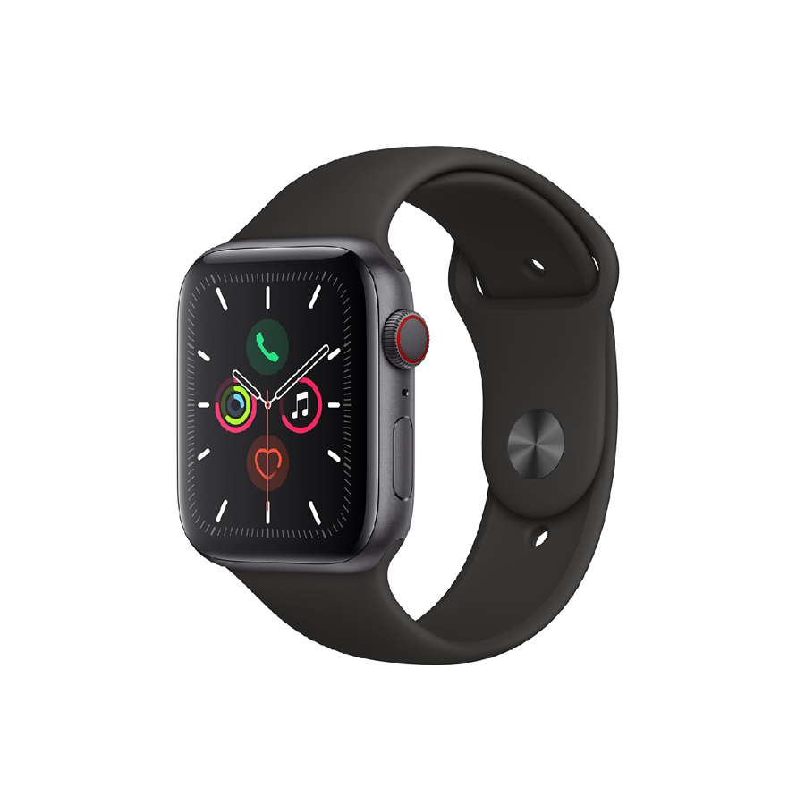 Apple Watch Series 5 (GPS + Cellular) 44mm Space Grey Aluminium Case with Black Sport Band