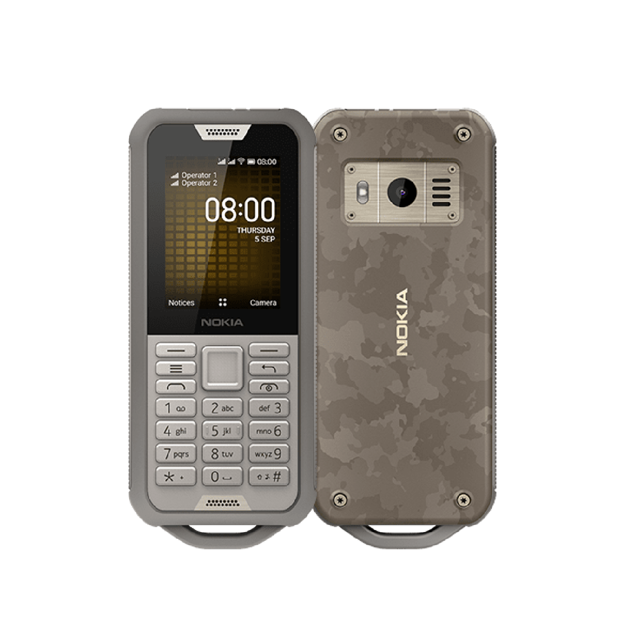 Nokia 800 Tough 4GB Sandfarvet Dual-SIM